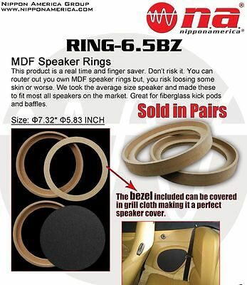 """6.5"""" Mdf Speaker Ring Recessed With Bezel Mounting Spacer For Fiber Glass Mold"""