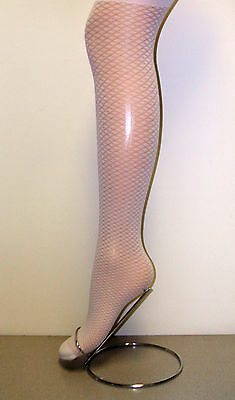 Girls 1 Pair Party/Occasion Cream Diamond Shell Net Design Tight -various sizes