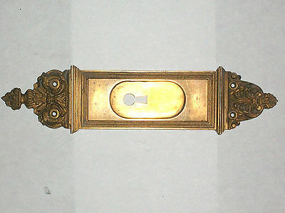 "Antique Eastlake Victorian Pocket Door Pull 10 1/2"" x 2 1/2"" Stamped 3278"