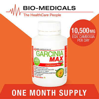 1 X 90 Cap Pure Garcinia Cambogia Max! High Strength Rrp $39.95