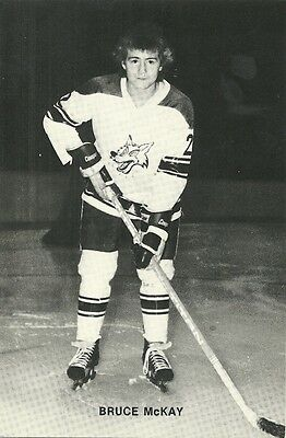 """4.25""""X6.5"""" Sudbury Wolves Tean Issued Cards from the late 1970's Bruce McKay"""