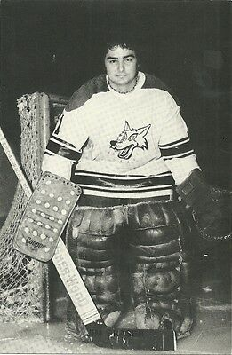 """4.25""""X6.5"""" Sudbury Wolves Tean Issued Cards from the late 1970's Jim Fraser"""