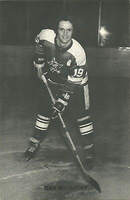 """4.25""""X6.5"""" Sudbury Wolves Tean Issued Cards from the late 1970's Dan McCarthy"""