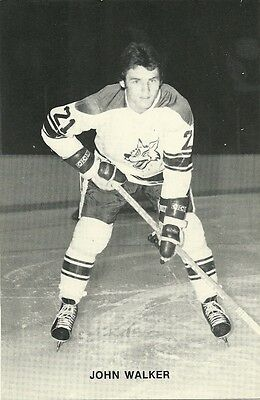 """4.25""""X6.5"""" Sudbury Wolves Team Issued Card from the late 1970's John Walker"""