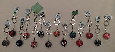 "New with Tags*VERA BRADLEY ""Have a Ball"" KEYCHAIN*Choice of 14 Patterns*MSRP $20"