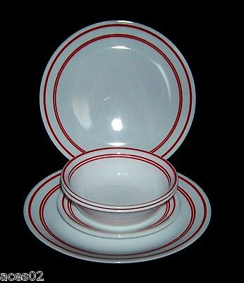 Corelle Livingware Classic Cafe 6 Pc. Dinner Set Red and White