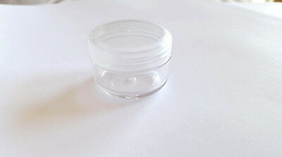 5 x 6g  Clear Plastic Lip Balm Small Sample Cosmetic Jars Container + Cap