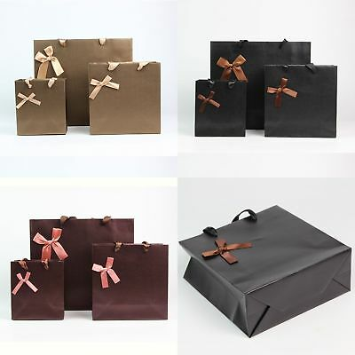 XMAS Birthday Party Kraft Paper Bags With Handles Wedding Favor Loot Gift Bags