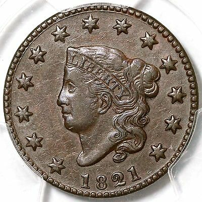 1821 N-2 PCGS XF 45 Matron or Coronet Head Large Cent Coin 1c