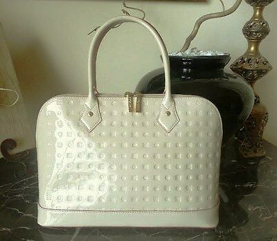 ARCADIA - FINE  ITALIAN PATENT LEATHER HAND BAG - REDUCED!!!