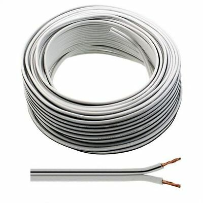 20m of White Speaker Cable 13 Strand for Surround Sound Hifi Car Audio System