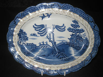 Booths 'Real Old Willow' oval platter plate. 26.5cm