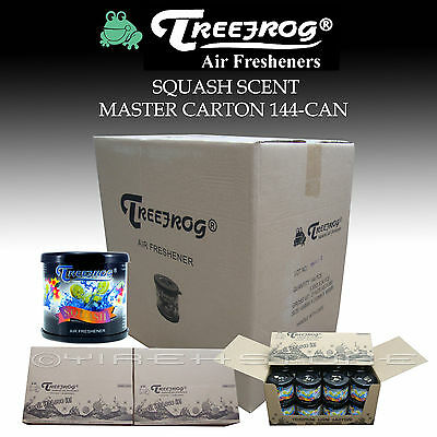 144 Can Treefrog Squash / Assorted Scent Air Freshener Master Carton - Tree Frog