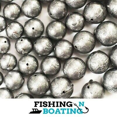 Ball Sinkers Size 1,2,3,4 Qty 36 Sinker Fishing Boating Tackle Professional Made