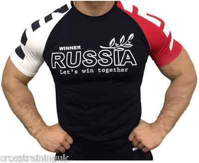 Klokov Winner Russia 3 Colour Compression Tee WeightLifting Cross Training