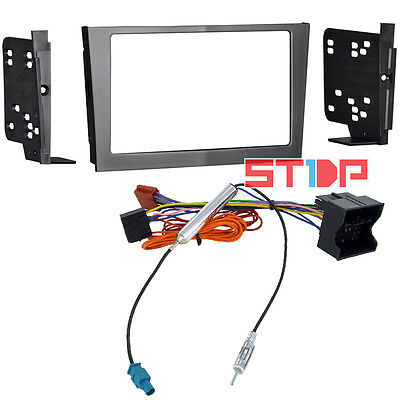 Holden Astra Ah Double-Din Fascia Kit + Iso Wiring Harness + Antenna Adaptor