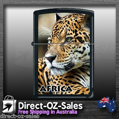 "Zippo Lighter Black Matte finish "" Resting Leopard "" 7122 -Oz FREE EXPRESS POST!"