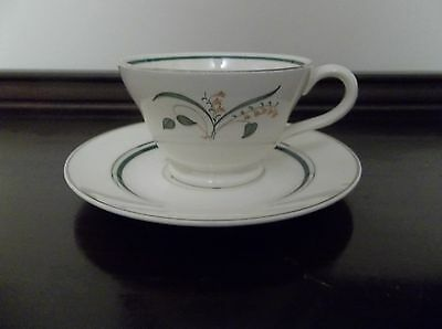 KNOWLES, EDWIN KNOWLES CHINA FINLANDIA PATTERN CUP & SAUCER