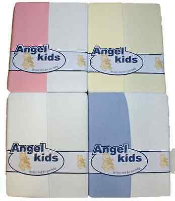 Sheets x 2 moses basket fitted cotton jersey baby