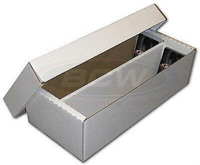 One BCW Cardboard 2-Row Baseball Trading Card Shoe Box 1600 count storage
