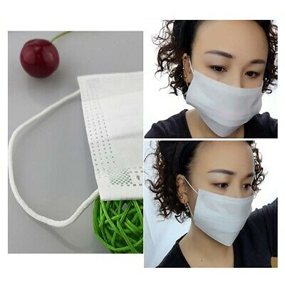 50 Pcs Disposable Medical Dust Face Mask Surgical Face Mask Respirator White Hot