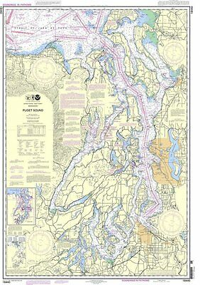NOAA Chart Puget Sound 30th Edition 18440