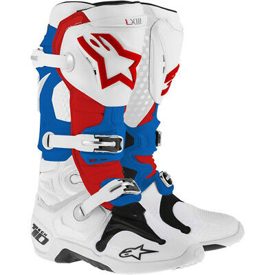 Alpinestars Tech 10 Boots - White/blue/red