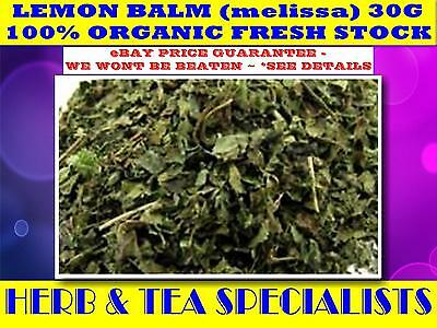 LEMON BALM 30G ORGANIC☆Melissa Officinalis☆TEA☆RELAXANT☆ANTI-DEPRESSIVE☆
