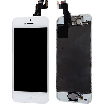 White LCD Lens Digtizer Touch Screen Display Assembly Replacement for iPhone 5C