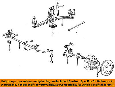 FORD OEM 99-04 F-350 Super Duty Front Suspension-Shackle F81Z5B311AA