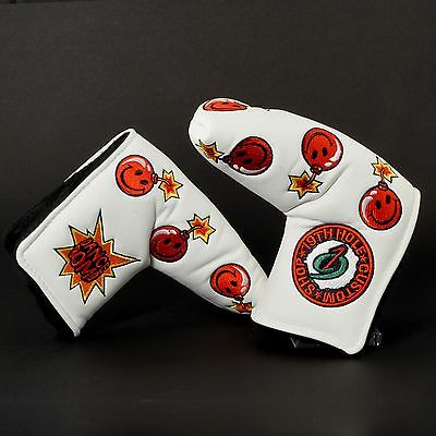 White Dancing Bomb Blade Putter Headcover, Scotty Cameron, TaylorMade, Ping, NEW
