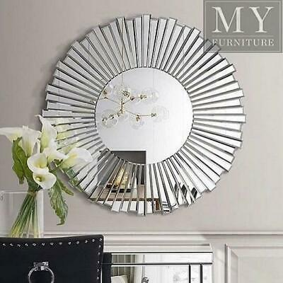 Round Wall Mirror Mirrored Finish Contemporary Style