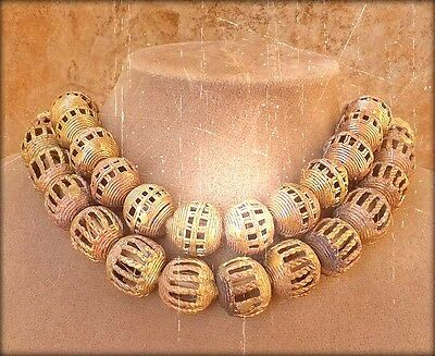 Exclusive To Aimee's Boutique: African Brass Copper Beads Big Statement Necklace