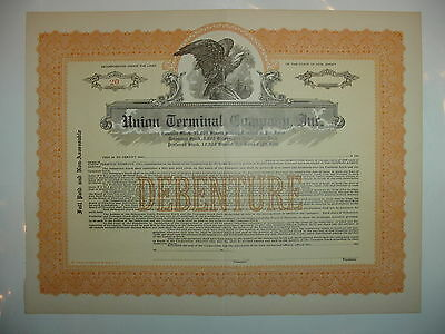 Union Terminal Company, Inc. Stock Certificate New Jersey