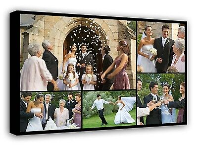 Personalised Framed Canvas Collage Print Photo Image Picture -Ready to hang f109