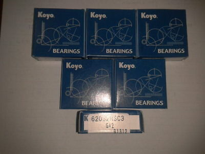 10x 6203.2RS,17mm id x 40mm od x 12mm wide,sealed deep groove ball bearings Jap