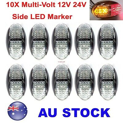 10X 12V 24V Multivolt Truck Marker Boat Red AMBER LED Side Marker Light AU Stock