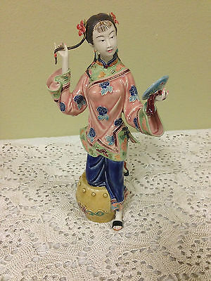 Chinese Oriental  Porcelain / Ceramic RARE REFLECTIONS LADY GREAT BEAUTY