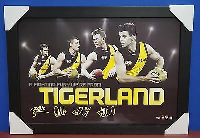 Richmond Signed AFL Licensed Print Black Frame Cotchin Martin Riewoldt Deledio