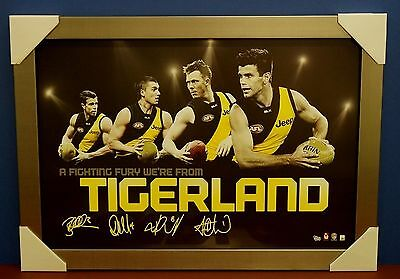 Richmond Signed AFL Licensed Print SILVER Frame Cotchin Martin Riewoldt Deledio