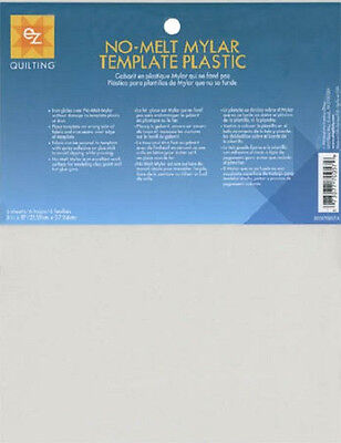 """EZ Quilting~NO-MELT MYLAR TEMPLATE PLASTIC~(6) 8-1/2""""x11"""" sheets~FREE S/H"""
