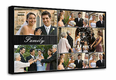 Personalised Photo Collage Printed - framed canvas ready to hang - 7 photos f100