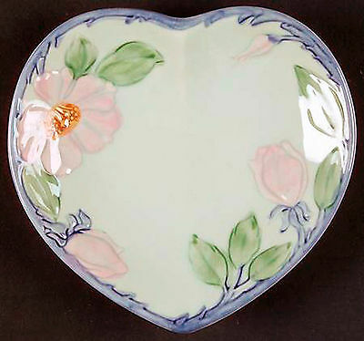 Rare Vintage Franciscan Twilight Rose HEART SHAPED BOX WITH COVER NEW!