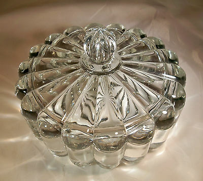 "Heisey Crystolite Crystal 7"" Diameter Round Candy Dish Box & Cover!"