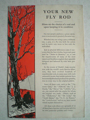 "A Scarce Hardy Advertising Pamplet ""your New Fly Rod"""