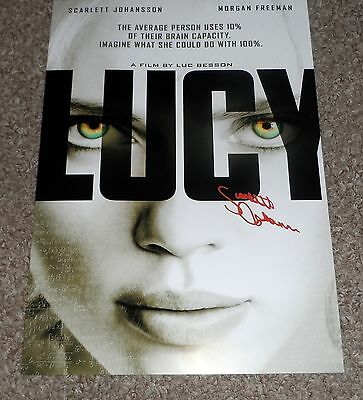 "Lucy Pp Signed 12"" X 8"" A4 Photo Poster Scarlett Johansson"