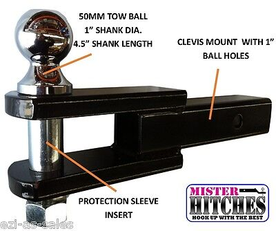 Clevis Mount Towing Kit Tow Bar 4Wd Trailer