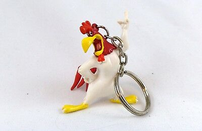 "PVC Foghorn Leghorn 2"" Key Ring Toy Figure Warner Brothers Looney Tunes WB Lot"