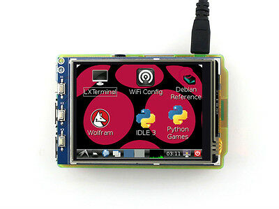 3.2inch RPi LCD (B) Raspberry Pi 3.2inch 320×240 Resistive Touch LCD TFT Display