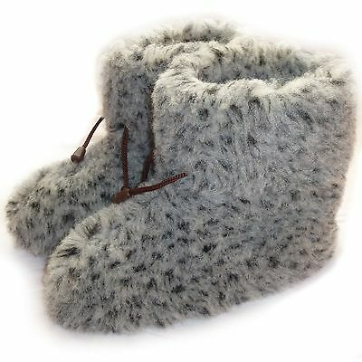 COZY FOOT, Women`s Ladies Mens Pure Sheep Wool Fleece Sheepskin Winter Slippers